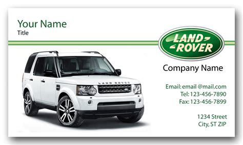 Rover Business Cards land rover business cards