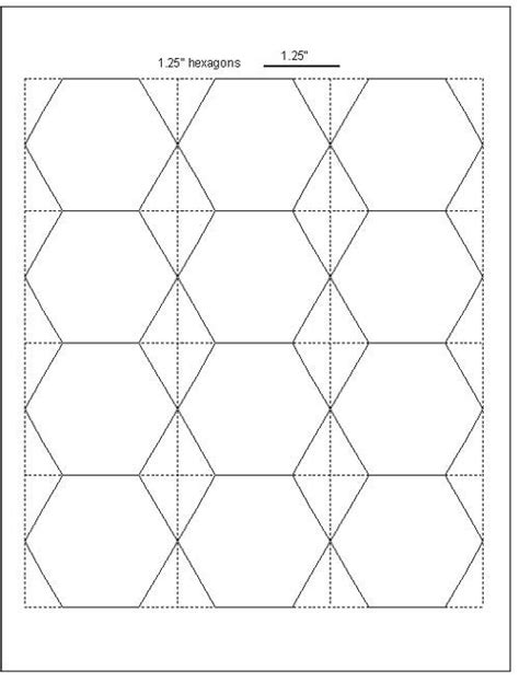 hexagon templates for english paper piecing bee quilt