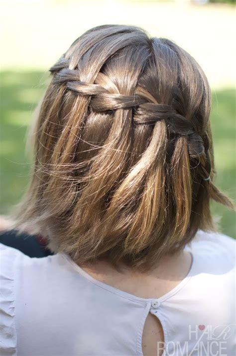 pinterest braids for short hair waterfall braid in short hair laneys hair ideas