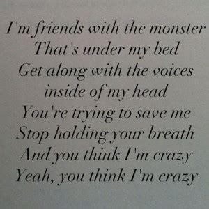 monster under my bed song quotes about monsters under the bed quotesgram