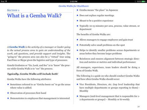 gemba walks for healthcare by todd sperl on ibooks