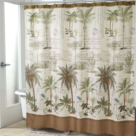 Tropical Shower Curtains Colony Palm Tree Tropical Shower Curtain