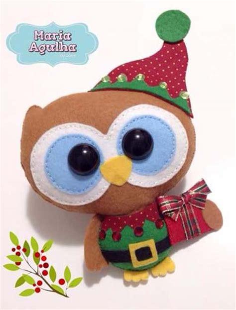 imagenes buhos navideños ideas de buhos navide 241 os de fieltro