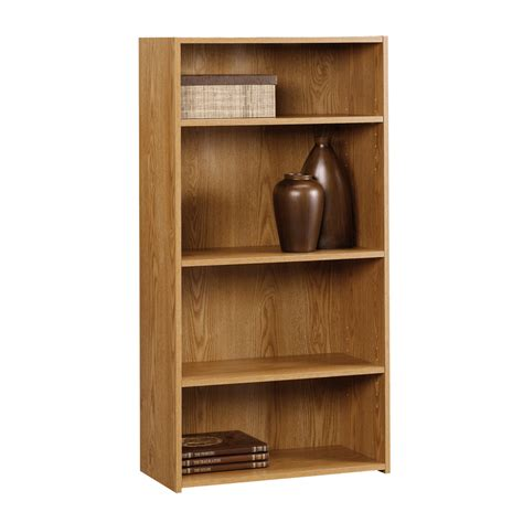sauder 4 shelf bookcase sauder 4 shelf bookcase sauder 402958 oak 4 shelf