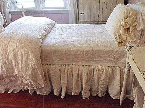 rustic linen bedding rustic farmhouse diy linen bedskirts bedrooms