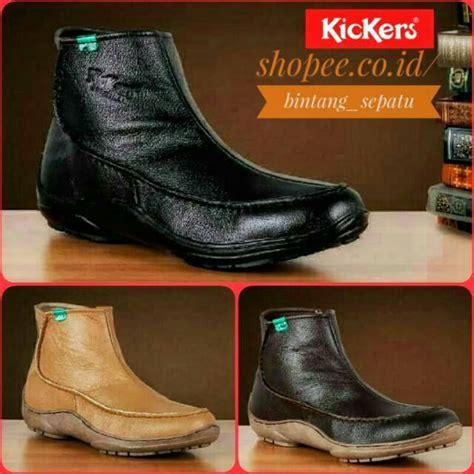 Sepatu Keren Kickers Zipper sepatu boots formal keren pria cowok kulit asli resleting