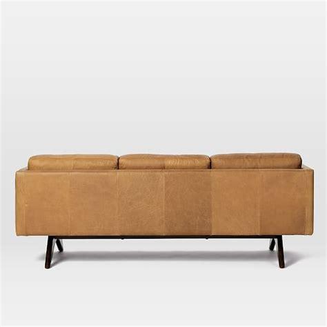 west elm brooklyn sofa brooklyn leather sofa 81 quot sienna west elm