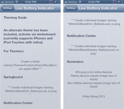 live battery themes live battery indicator now available for free on cydia