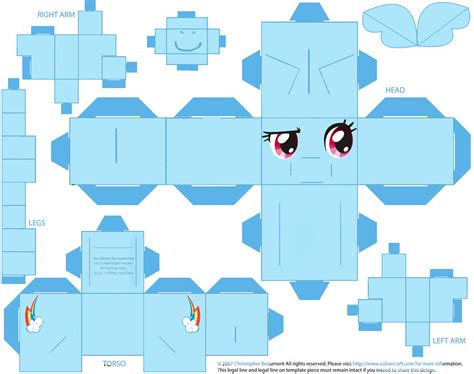 Rainbow Dash Papercraft - rainbow dash by yecatsnz