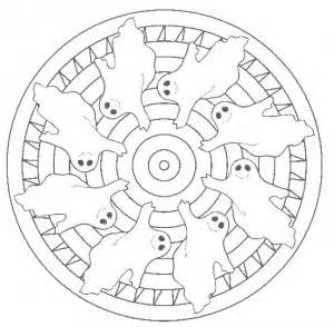 halloween mandala coloring page for kids crafts and