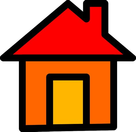 house home icon symbol yellow button