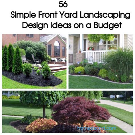 Simple Backyard Landscaping Ideas On A Budget 56 Simple Front Yard Landscaping Design Ideas On A Budget Homedecort
