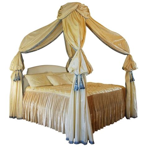 canopy bed drapery custom canopy bed king size frame silk drapery for sale at