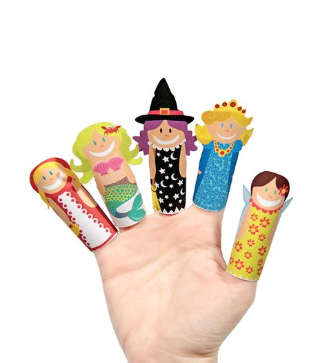 How To Make Paper Finger Puppets - paper finger puppets printable pdf diy