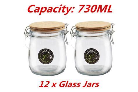food storage jar ml glass jars canister
