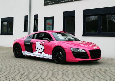 pink audi r8 pink audi r8 v10 hello kitty by cam shaft garage car