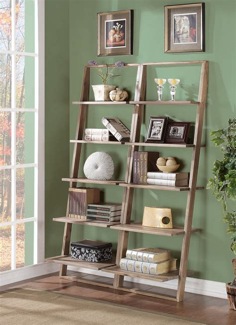 leaning bookcase with drawers leaning bookcase with 5 shelves by riverside furniture