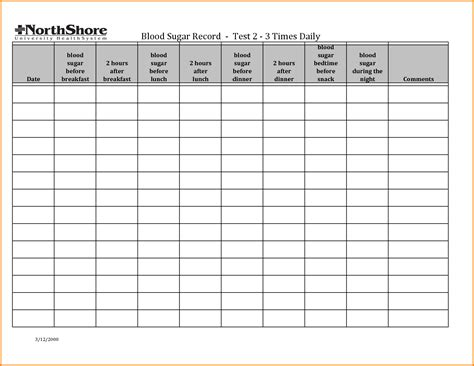 blood sugar log template search results for large print blood sugar log