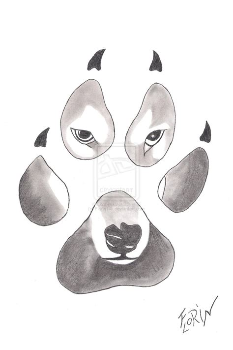 paw drawing paws drawing
