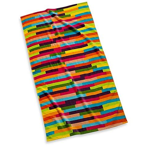 beach towels bed bath and beyond buy pixelated beach towel in stripes from bed bath beyond