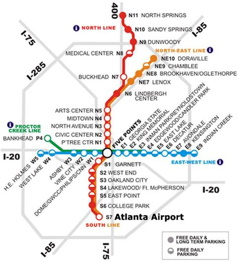 Atlanta Train Map by Marta Map Marta Guide