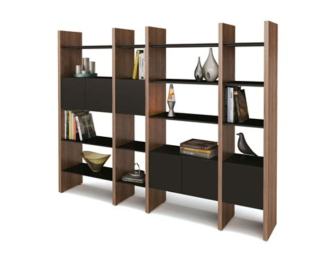 modern shelving brown wooden mixed metal bookshelf for storage organizer