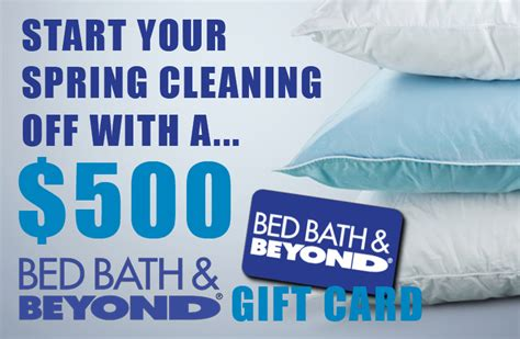 bed bath and beyond sweepstakes win a 500 bed bath and beyond gift card free sles
