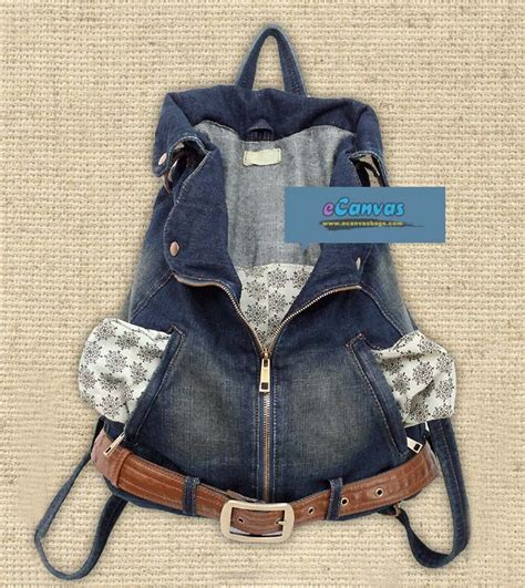 Backpak Jins denim backpack purse backpack tools