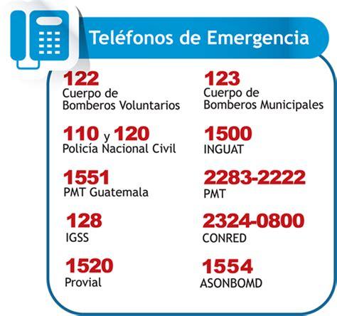 telfonos importantes tel 233 fonos de emergencia n 250 meros telef 243 nicos para