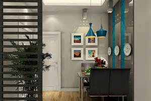 Partition wooden design between hall amp dining interior