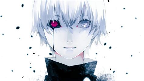 wallpaper anime girl cry tokyo ghoul heterochromia simple background crying