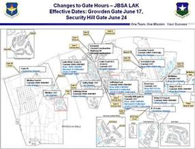 lackland afb gate hours changes center west 2013