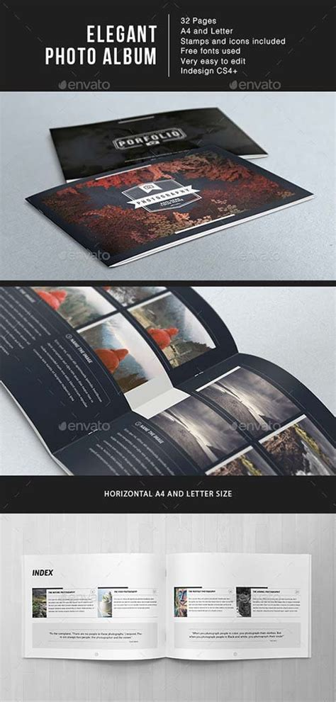 Wedding Photo Album Horizontal Brochure Template by Photo Album Templates Graphicriver Wedding Photo Album