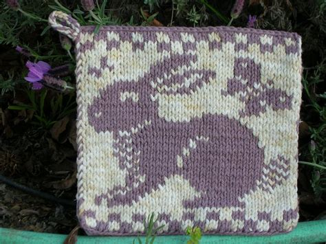 knit potholder pattern rabbit butterfly knit potholder media