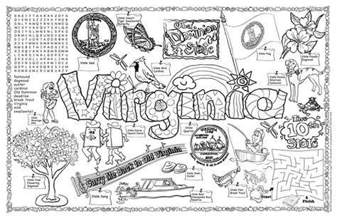 coloring page virina alabama state information alabama symbols facts