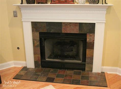 photos of tile fireplace hearths