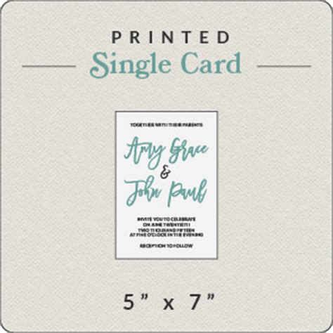 Flat Card Template 5x7 by Print Your Own Design 5x7 Flat Card