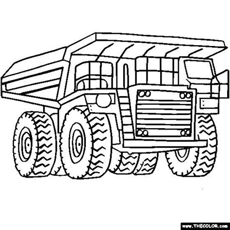 digger coloring pages for kids coloring page for boys