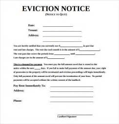 eviction notice template alberta free sle eviction notice template 17 free documents in