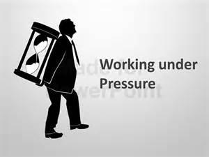 working under pressure editable powerpoint slides