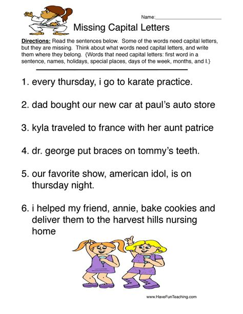Capitalization Worksheets by Capitalization Worksheets Page 2 Of 2 Teaching