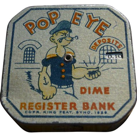 diner bank popeye dime register bank from amazingamericana on ruby