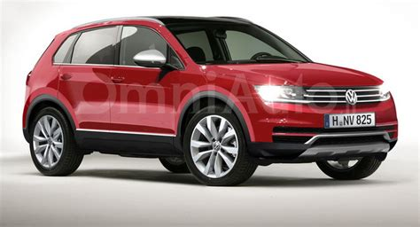 this vw tiguan rendering reveals a rather utilitarian design carscoops