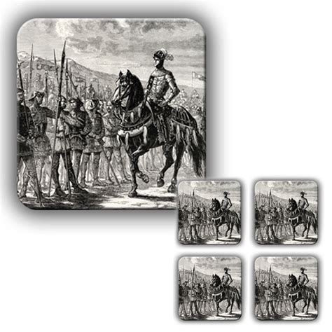 engraving battle coaster set the battle of agincourt engraving