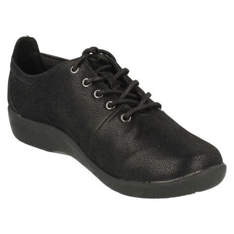 Sepatu Clarks Sillian Tino Black clarks cloud steppers lace up shoes sillian tino ebay