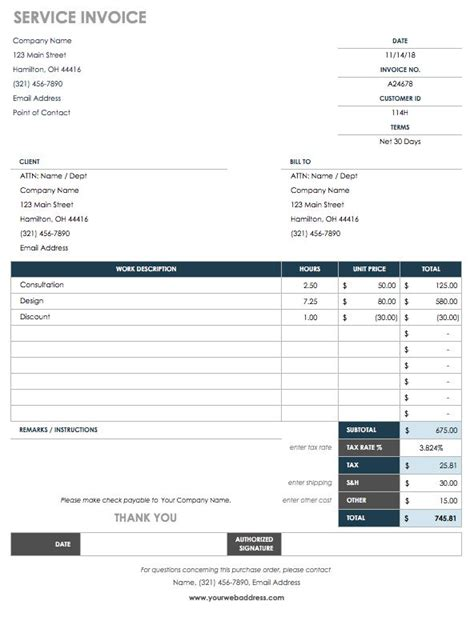 15 Free Work Order Templates Smartsheet Service Order Invoice Template