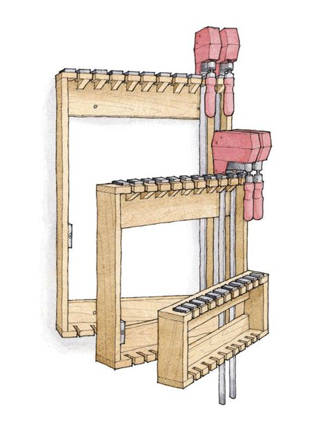 Bar Cl Rack Plans by Space Saving Rack For Bar Cls Finewoodworking
