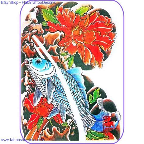 quality tattoo flash koi tattoo flash design 7 for you on etsy top quality