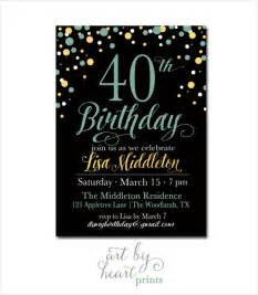 40th birthday invitations templates 25 40th birthday invitation templates free sle