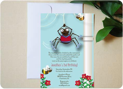 Itsy Bitsy Spider Birthday Ideas Itsy Bitsy Spider Birthday Invitation From Urbanity Studios Itsy Bitsy Spider Birthday